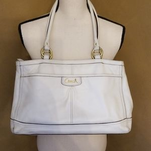 Coach Park White Leather Carryall bag